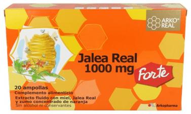 Jalea Real 1000 mg. 20 ampollas