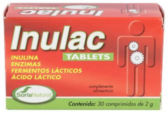 Soria Natural Inulac Tabletas 30 Comprimidos