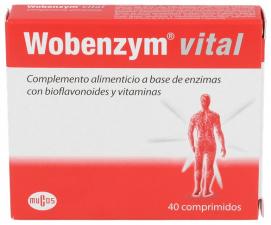 Mucos Wobenzym Vital 40 Comprimidos Mucos